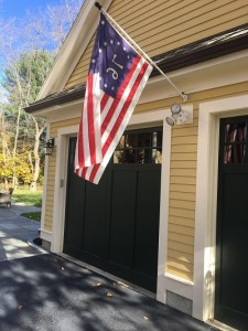 garage and flag