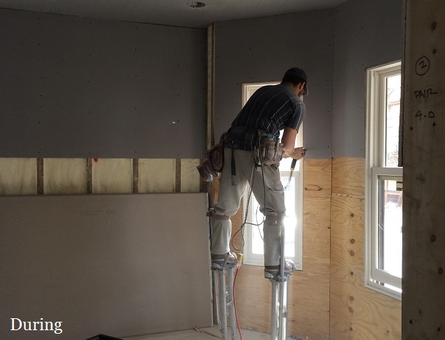 during home renovation
